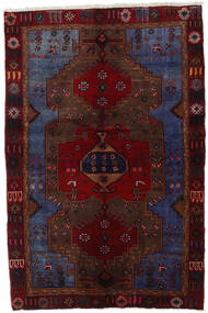 Hamadan Rug 129X193 Authentic  Oriental Handknotted Dark Red/Dark Grey (Wool, Persia/Iran)