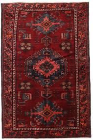 Hamadan Teppe 125X199 Ekte Orientalsk Håndknyttet Mørk Rød/Mørk Brun (Ull, Persia/Iran)