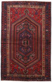 Hamadan Matto 137X217 Itämainen Käsinsolmittu Tummanpunainen/Tummanruskea (Villa, Persia/Iran)