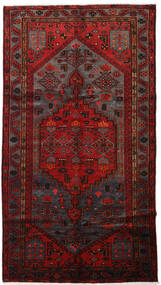 Hamadan Rug 146X267 Authentic  Oriental Handknotted Dark Red/Dark Brown (Wool, Persia/Iran)
