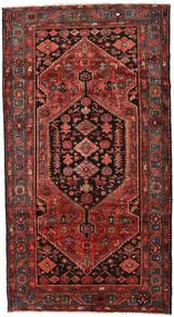 Hamadan Rug 150X270 Authentic  Oriental Handknotted Dark Red/Dark Brown (Wool, Persia/Iran)