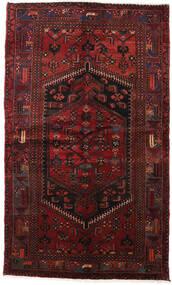 Hamadan Matto 132X219 Itämainen Käsinsolmittu Tummanpunainen/Tummanruskea (Villa, Persia/Iran)