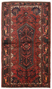 Hamadan Matto 128X223 Itämainen Käsinsolmittu Tummanpunainen/Tummanruskea (Villa, Persia/Iran)