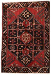 Hamadan Matto 162X228 Itämainen Käsinsolmittu Tummanpunainen/Tummanruskea (Villa, Persia/Iran)