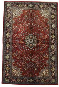 Sarouk Rug 154X231 Authentic  Oriental Handknotted Dark Red/Dark Brown (Wool, Persia/Iran)