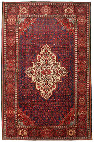Hosseinabad Rug 215X330 Authentic  Oriental Handknotted Dark Red/Black (Wool, Persia/Iran)