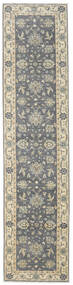 Ziegler Ariana Rug 88X378 Authentic  Oriental Handknotted Hallway Runner  Dark Grey/Light Grey (Wool, Afghanistan)