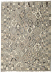 Kilim Afghan Old Style Rug 249X342 Authentic  Oriental Handwoven Light Grey/Olive Green (Wool, Afghanistan)