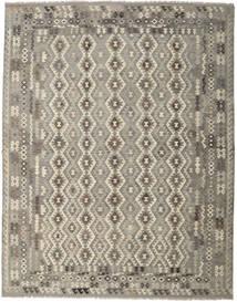 Kilim Afghan Old Style Rug 308X397 Authentic  Oriental Handwoven Light Grey/Dark Grey Large (Wool, Afghanistan)