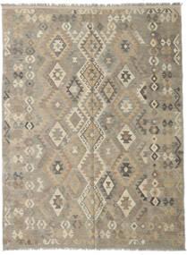 Kilim Afgan Old Style Dywan 185X246 Orientalny Tkany Ręcznie Jasnoszary/Jasnobrązowy (Wełna, Afganistan)