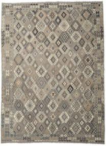 Kilim Afghan Old Style Rug 300X405 Authentic  Oriental Handwoven Light Grey/Dark Grey Large (Wool, Afghanistan)