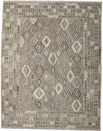 Kilim Afghan Old Style Rug 306X391 Authentic  Oriental Handwoven Light Grey/Dark Grey Large (Wool, Afghanistan)