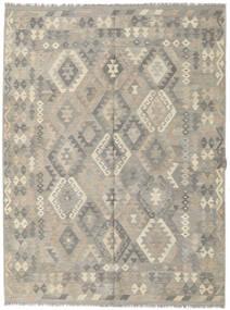 Kilim Afgan Old Style Dywan 182X244 Orientalny Tkany Ręcznie Jasnoszary (Wełna, Afganistan)