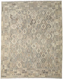 Kilim Afghan Old Style Rug 306X383 Authentic  Oriental Handwoven Light Grey/Beige Large (Wool, Afghanistan)