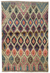 Moroccan Berber - Afganistan Rug 88X131 Authentic  Modern Handknotted Olive Green/Black (Wool, Afghanistan)
