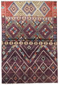 Moroccan Berber - Afganistan Teppich  119X176 Echter Moderner Handgeknüpfter Dunkelbraun/Hellgrau (Wolle, Afghanistan)
