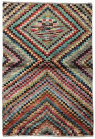 Moroccan Berber - Afganistan Matto 92X135 Moderni Käsinsolmittu Tummanruskea/Tummansininen (Villa, Afganistan)