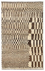 Moroccan Berber - Afganistan Matto 84X136 Moderni Käsinsolmittu Beige/Tummanruskea (Villa, Afganistan)