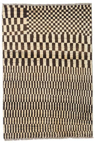 Moroccan Berber - Afganistan Rug 89X131 Authentic  Modern Handknotted Dark Brown/Beige (Wool, Afghanistan)