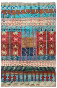 Moroccan Berber - Afganistan Dywan 115X173 Nowoczesny Tkany Ręcznie Ciemnoczerwony/Ciemnoniebieski (Wełna, Afganistan)
