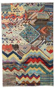 Moroccan Berber - Afganistan Dywan 109X176 Nowoczesny Tkany Ręcznie Jasnoszary/Ciemnoszary (Wełna, Afganistan)