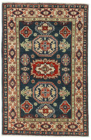 Kazak Matta 83X126 Äkta Orientalisk Handknuten Svart/Mörkröd (Ull, Pakistan)