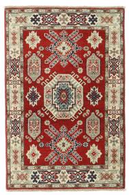 Kazak Dywan 84X135 Orientalny Tkany Ręcznie Ciemnoczerwony/Zielony/Oliwkowy (Wełna, Pakistan)
