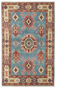 Kazak Matto 92X144 Itämainen Käsinsolmittu Tummanpunainen/Tummanbeige (Villa, Pakistan)