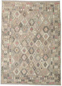 Kilim Afghan Old Style Rug 241X342 Authentic  Oriental Handwoven Light Grey (Wool, Afghanistan)