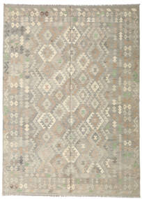 Kilim Afghan Old Style Rug 208X286 Authentic  Oriental Handwoven Light Grey (Wool, Afghanistan)