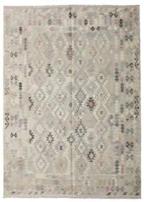 Kilim Afgan Old Style Dywan 208X287 Orientalny Tkany Ręcznie Jasnoszary/Ciemnobeżowy (Wełna, Afganistan)