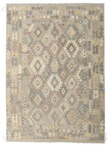 Kilim Afghan Old Style Rug 208X292 Authentic  Oriental Handwoven Light Grey/Beige (Wool, Afghanistan)