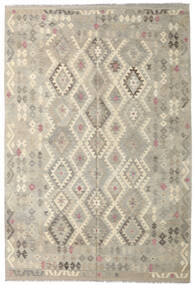Kilim Afghan Old Style Rug 206X307 Authentic  Oriental Handwoven Light Grey/Dark Beige (Wool, Afghanistan)