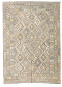 Kilim Afghan Old Style Rug 175X243 Authentic  Oriental Handwoven Light Grey/Beige (Wool, Afghanistan)