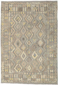 Kilim Afghan Old Style Rug 171X246 Authentic  Oriental Handwoven Light Grey/Olive Green (Wool, Afghanistan)