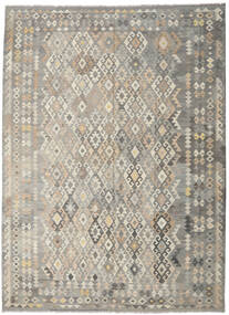 Kilim Afghan Old Style Rug 245X335 Authentic  Oriental Handwoven Light Grey (Wool, Afghanistan)