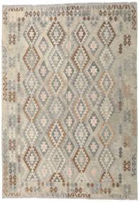 Kilim Afghan Old Style Rug 206X297 Authentic  Oriental Handwoven Light Grey (Wool, Afghanistan)