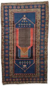 Hamadan Rug 113X199 Authentic  Oriental Handknotted Dark Blue/Dark Red (Wool, Persia/Iran)