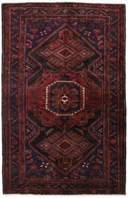 Hamadan Matto 140X215 Itämainen Käsinsolmittu Tummanpunainen (Villa, Persia/Iran)