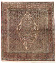 Senneh Tappeto 125X137 Orientale Fatto A Mano Quadrato Marrone/Grigio Chiaro (Lana, Persia/Iran)