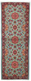 Ghom Kork/Seide Teppich  78X207 Echter Orientalischer Handgeknüpfter Läufer Dunkelrot/Beige (Wolle/Seide, Persien/Iran)