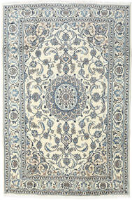 Nain Rug 196X295 Authentic  Oriental Handknotted Light Grey/Beige (Wool, Persia/Iran)