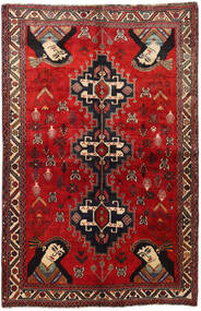 Qashqai Rug 158X247 Authentic  Oriental Handknotted Dark Red/Rust Red (Wool, Persia/Iran)