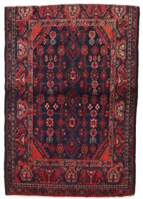 Hamadán Szőnyeg 103X150 Keleti Csomózású Sötétpiros/Fekete (Gyapjú, Perzsia/Irán)