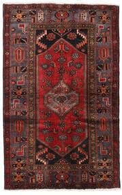 Hamadan Tapis 128X203 D'orient Fait Main Rouge Foncé/Marron Foncé (Laine, Perse/Iran)