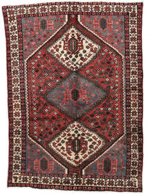 Hamadan Rug 150X205 Authentic  Oriental Handknotted Dark Brown/Dark Red (Wool, Persia/Iran)