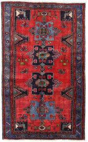 Hamadan Matto 120X195 Itämainen Käsinsolmittu Tummanpunainen/Punainen/Musta (Villa, Persia/Iran)
