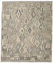 Kilim Afghan Old Style Rug 250X296 Authentic  Oriental Handwoven Light Grey/Olive Green Large (Wool, Afghanistan)