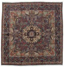 Kerman Koberec 242X246 Orientální Ručně Tkaný Čtvercový Tmavě Modrý/Černá (Vlna, Persie/Írán)
