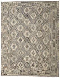 Kilim Afghan Old Style Rug 310X396 Authentic  Oriental Handwoven Light Grey/Dark Grey Large (Wool, Afghanistan)